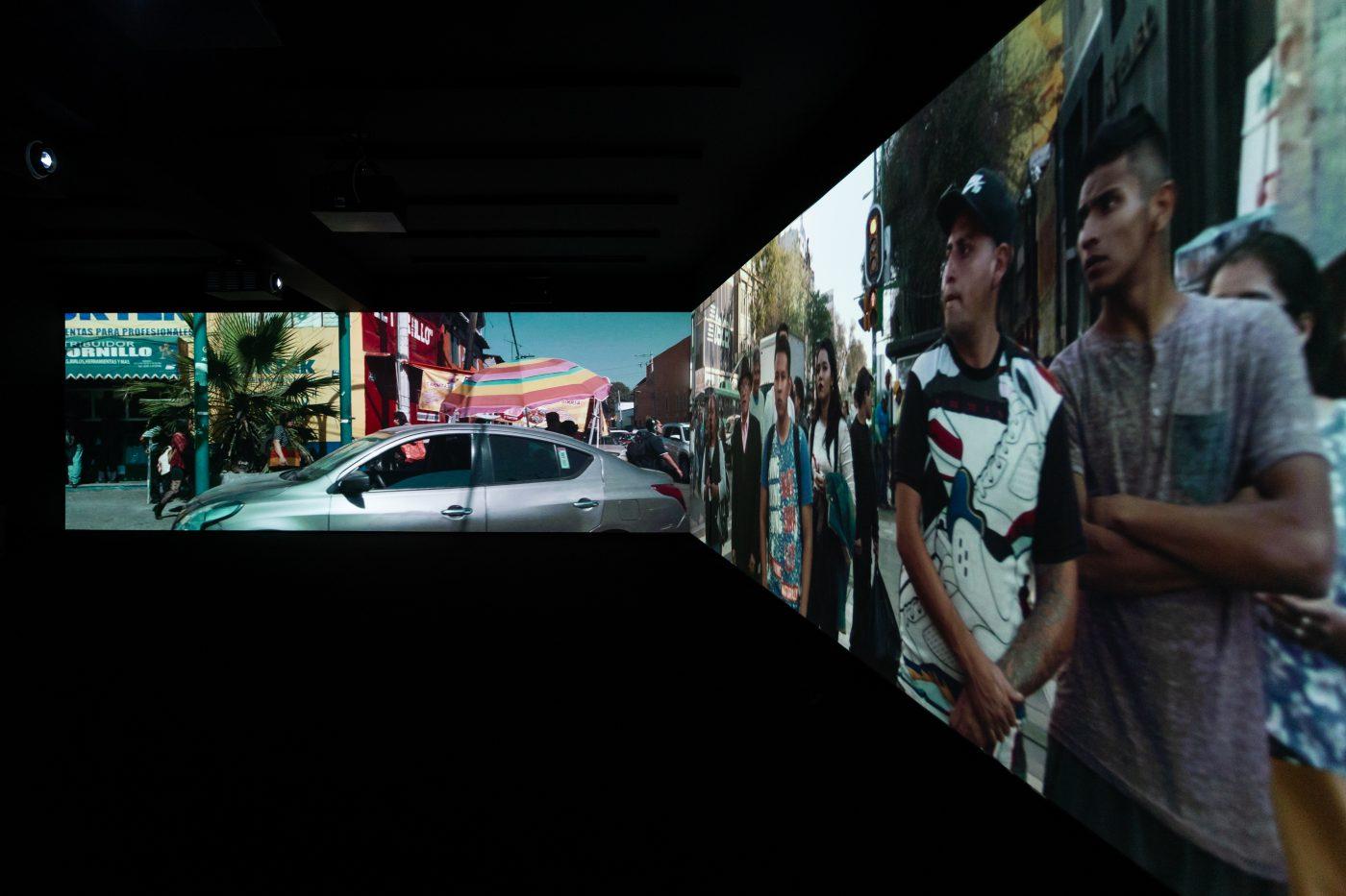 Exhibition view:Fenestra, Alexandre Farto aka Vhils, Galeria Vera Cortês, 2021